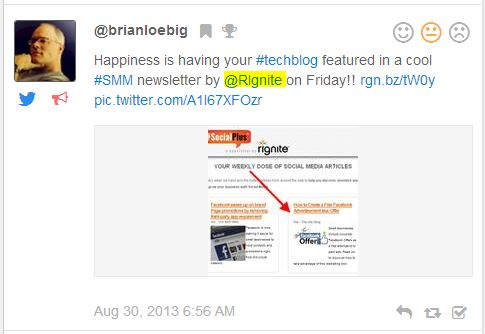 How to Use Rignite To Monitor For Brand Mentions - Step 2