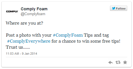 ComplyFoam Twitter Giveaway 1