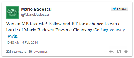 Mario Badescu Twitter Giveaway