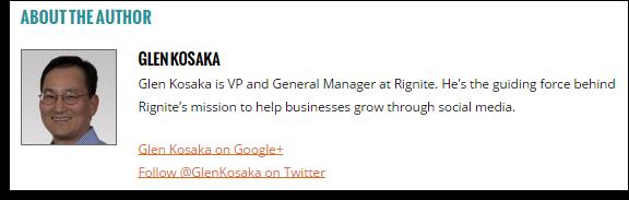 Blog author bio