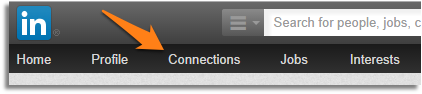 LinkedIn Connections menu