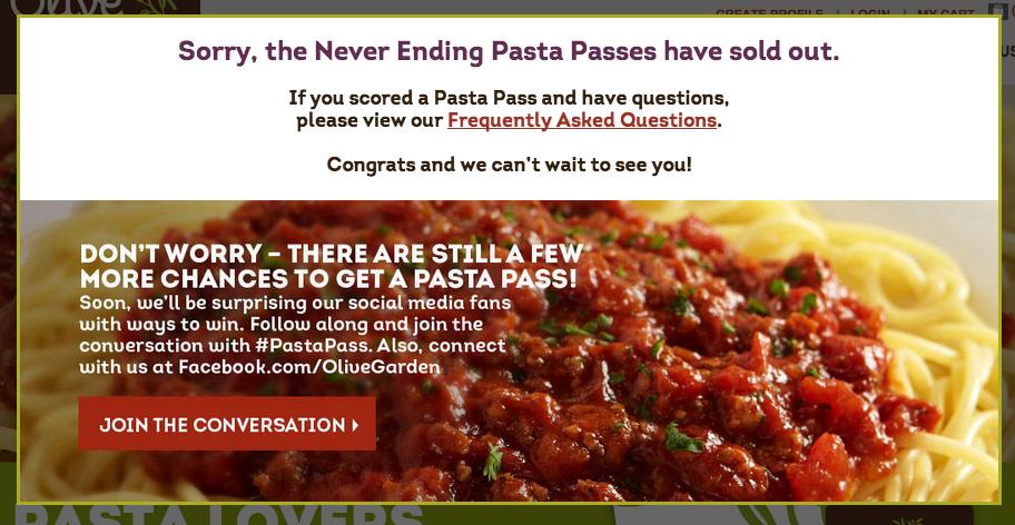 Never Ending Pasta