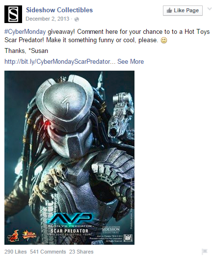 Sideshow-CyberMonday-campaign-facebook