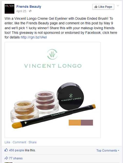 Learn how to run a Facebook giveaway from Frends Beauty