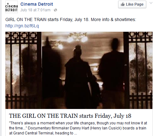 Cinema Detroit's social media campaign