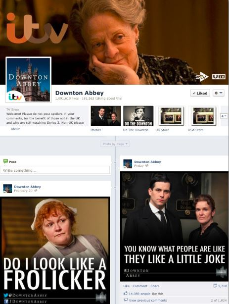Downton Abbey's Facebook Page