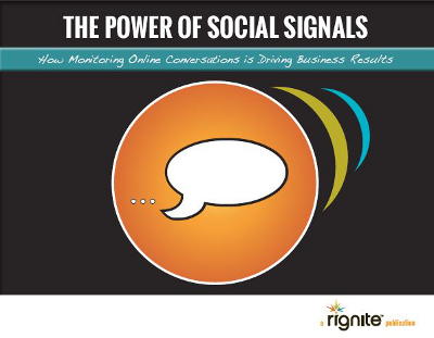 Power of Social Signals How Monitoring Online Conversations Is Driving Business
