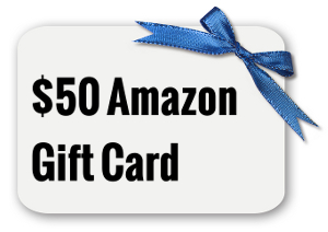 Blue Bow on a White Blank Gift Card or Tag. Insert Your Own Message or Graphic