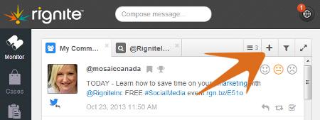 Add a search stream in Rignite