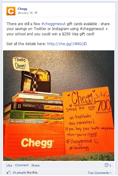 Chegg Twitter Contest Ideas - 3