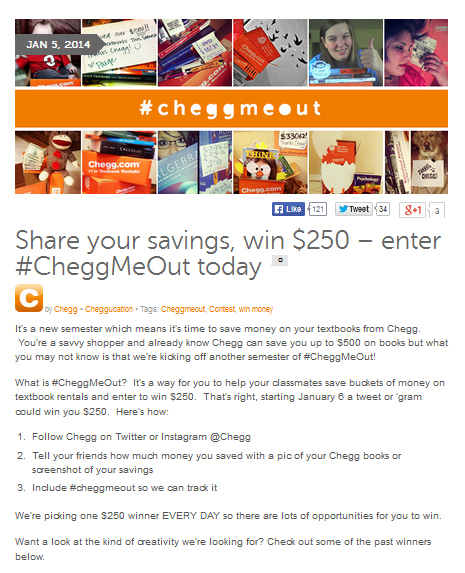 Chegg Twitter Contest Ideas - 4