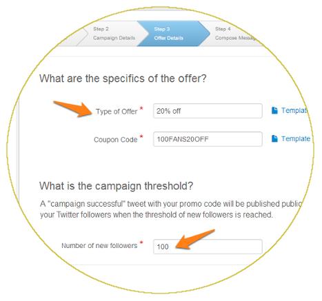 Social media marketing coupon campaign