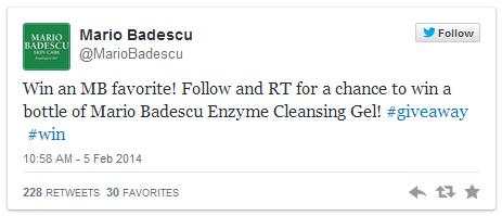 Mario Badescu Twitter Giveaway