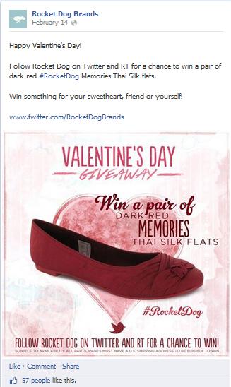 RocketDog Shoes Twitter Giveaway on FB