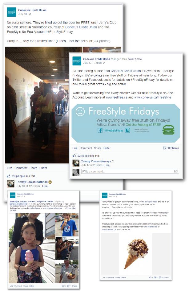 Conexus Credit Union - Partner Giveaway Campaign Idea on Facebook