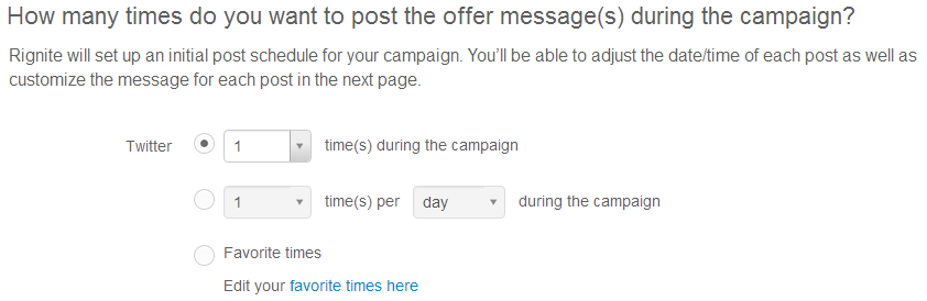 Setting posting frequency for promoting your social media campaigns