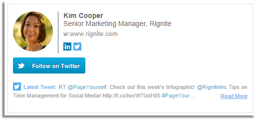 Add Twitter profile and recent tweets in your email signature