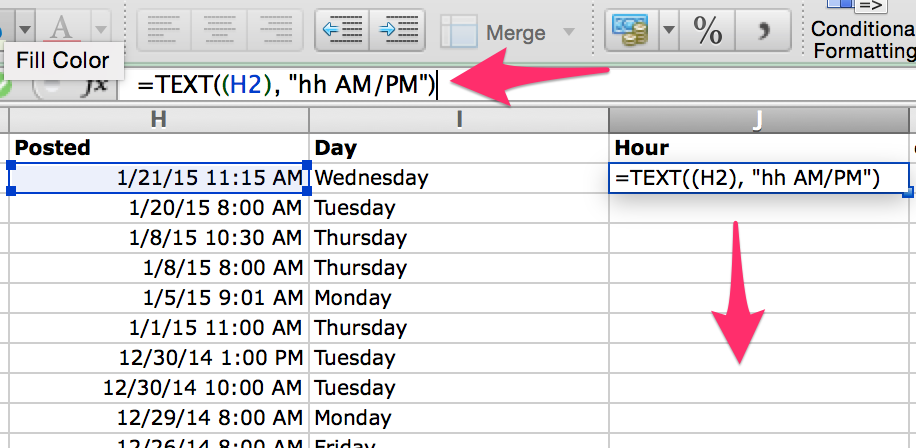 calculate hour in Excel