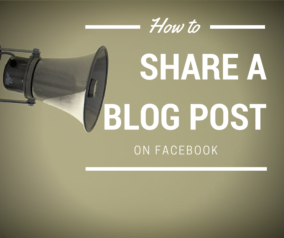 How to share a blog post on Facebook