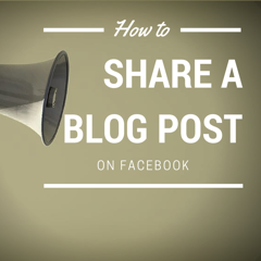 Sharing blog posts on Facebook