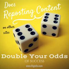 Should I repost blog content