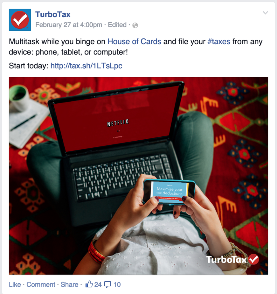 TurboTax posts about current trends