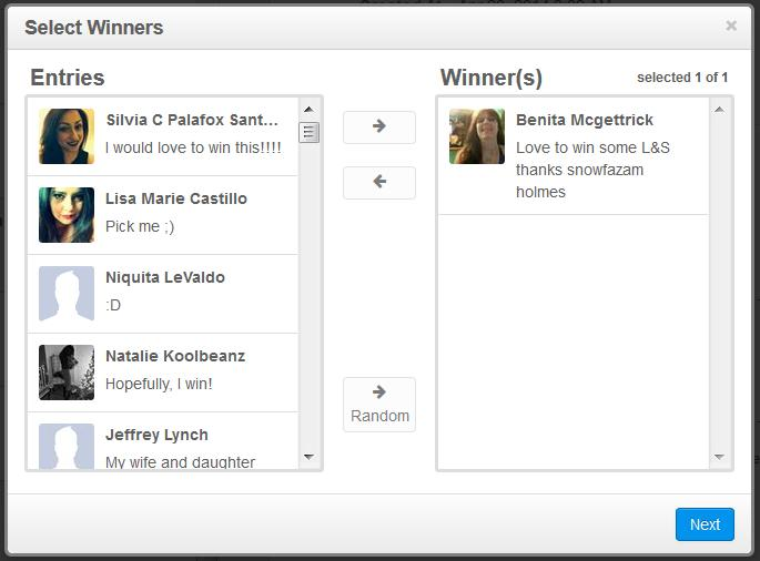 How to select winners when running a Facebook giveaway in Rignite