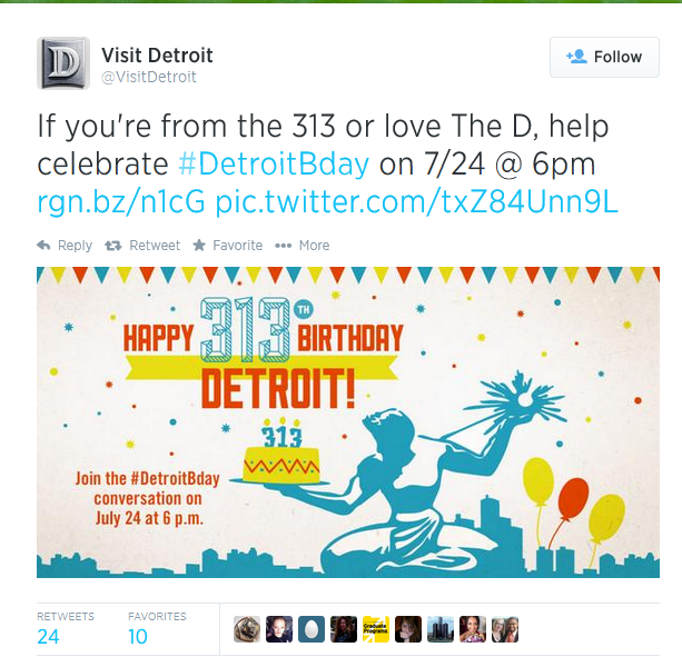 Visit Detroit social media campaign for driving tourism