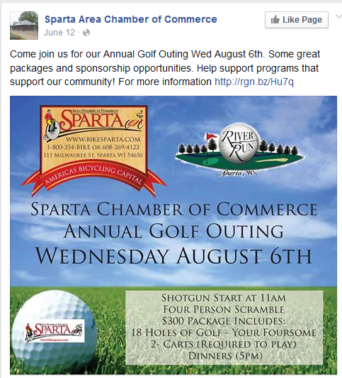 Social media campaign by Sparta Area Chamber of Commerce